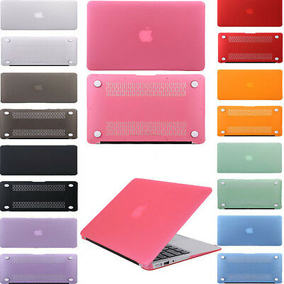 """Frosted Matte Rubberized Hardshell Case For MacBook Air Pro 11""""13""""15 Retina UK"""