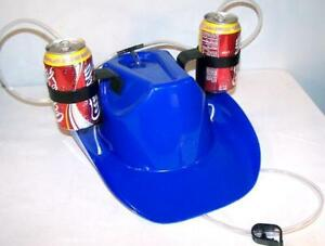 271c66b6541f0 NEW COWBOY DRINK BLUE WESTERN HAT novelty party hats beer MENS GIRLS ...
