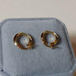 Hoop earrings 18k yellow gold
