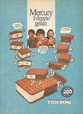 X7873 MERCURY il doppio gelato Toseroni - Pubblicità 1977 - Vintage advertising