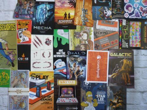 3 Loot Crate Geek ZBOX Box Lucky Dip Anime Gaming Badge Broche bluray Figure Bundle