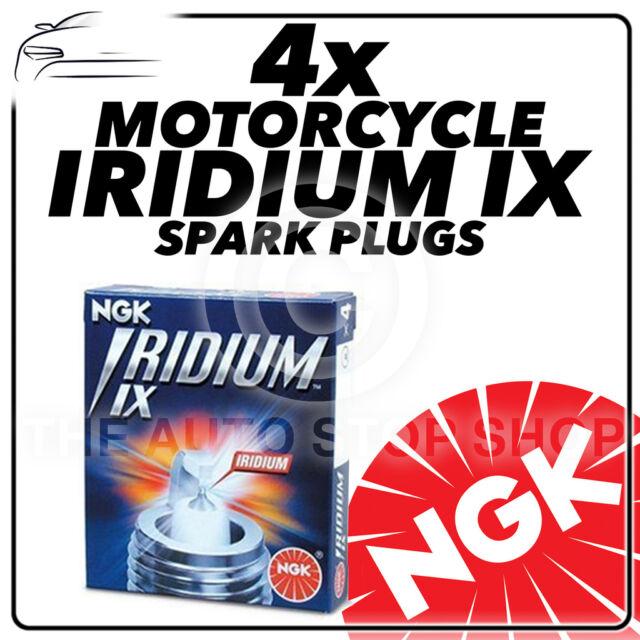 4x NGK IRIDIUM IX Bujías de actualización para Yamaha 1000cc YZF-R1 04 - > 08 #3521