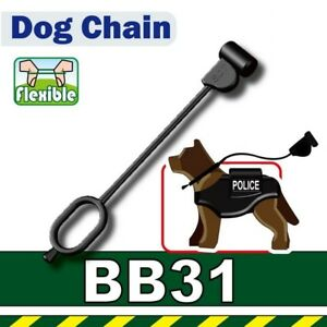 Dog Leash (W196)  compatible with toy brick minifigures Dog K9