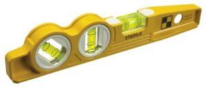 Stabila-25245-10-034-Magnetic-Torpedo-Level-w-45-Degree-Vial-amp-V-Groove