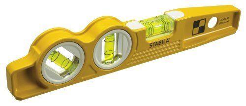 """Stabila 25245 10/"""" Magnetic Torpedo Level w//45 Degree Vial /& V-Groove"""