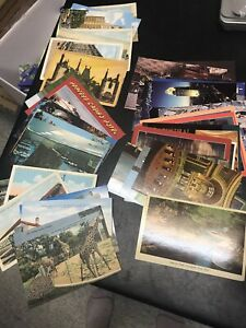Lot-of-over-50-Vintage-Postcards-1920-s-And-After-Used-1-Cent