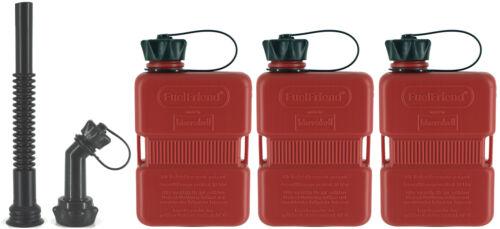 3x fuelfriend ® füllrohr-Set PLUS 1 litri Piccolo-Tanica di benzina riserva TANICA