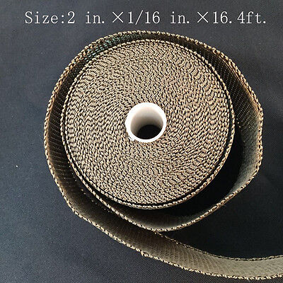 "Titanium Exhaust/Header Heat Wrap, 2"" x 16.4ft. Roll With Stainless Ties Kit M"