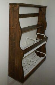 Antica piattaia in legno credenza da cucina parete esposizione ...