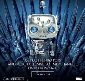 IN-HAND-w-Free-Protector-Metallic-Night-King-Funko-Pop-AT-amp-T-Game-Of-Thrones