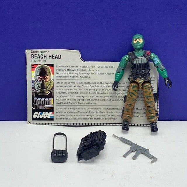 Gi  Joe Cobra azione cifra vintage completare Hasbro 1986 Beach Head Ranger loose  buona reputazione