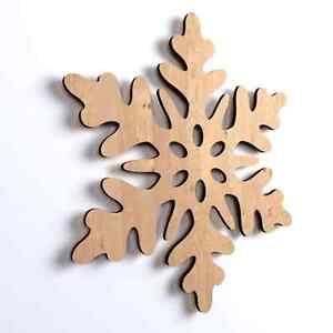 10x-Wooden-Snowflake-Shape-Plain-Blank-Room-Hanging-Christmas-Decoration-V50