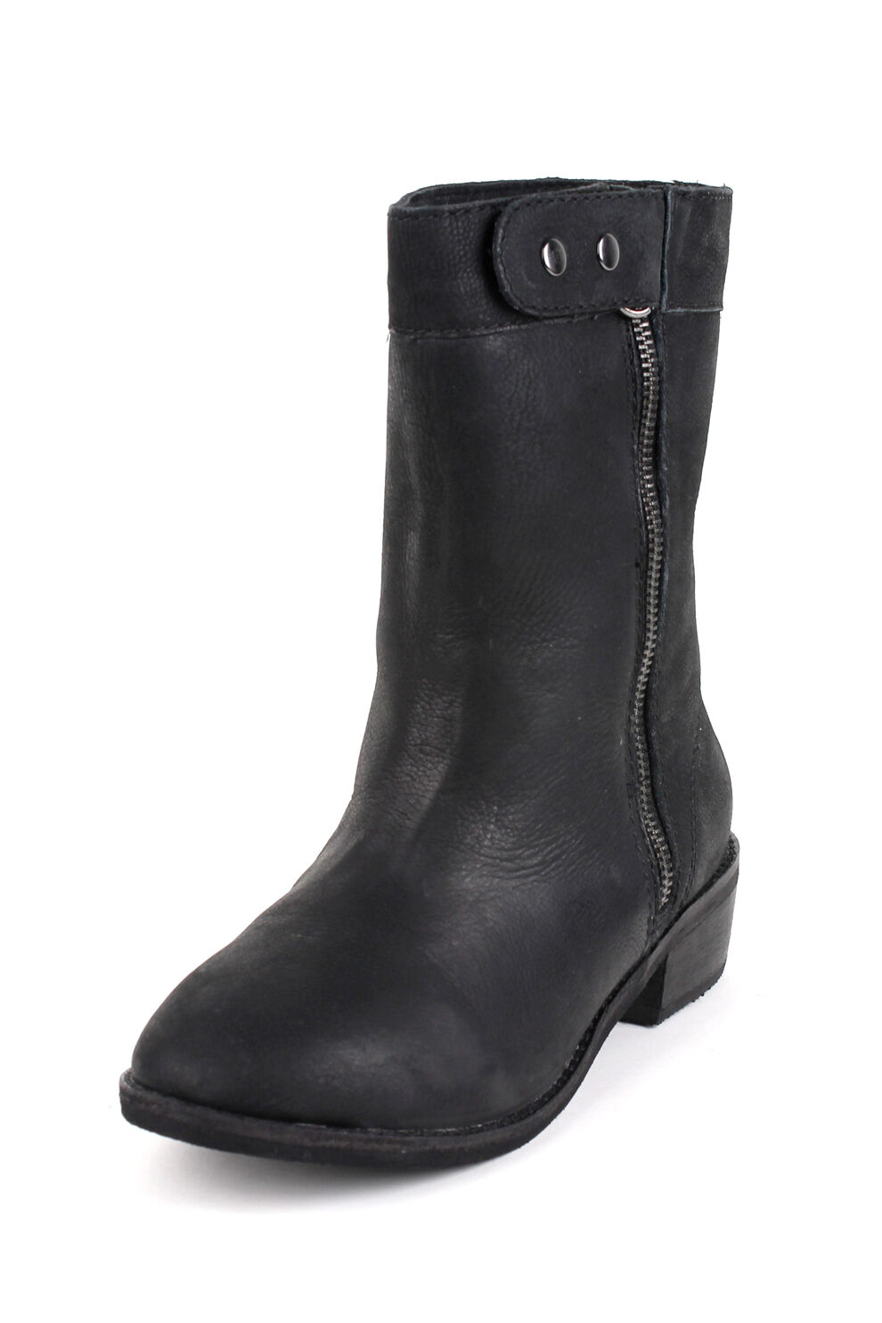 Joe's Jeans Groovy Ankle High Boot 295 Black Leather Shoes NEW