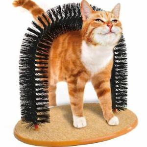 Cat-Kitten-Massage-Grooming-Scratching-Arch-Toy-Self-Groomer-Brush-Scratcher
