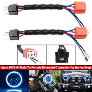 2x H4 9003 Headlight Bulb Ceramic Socket Plug Connector ...  Headlight Wiring Diagram on