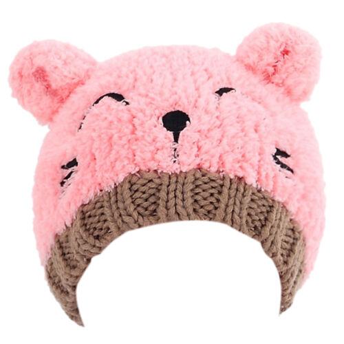 Newborn Baby Kids Winter Warm Cute Panda Kawaii Cap Stretchy Hat Colored Beanie