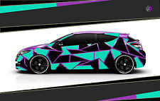 Camouflage Aufkleber Set Cyber Pixel Autotattoo Auto Sticker Tuning JDM 7.2105