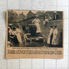 1923 Water Being Sold In Yorkshire Door-to-door Halfpenny Bucket