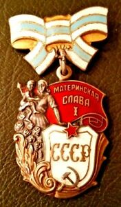 RUSSIAN-SOVIET-Order-of-Maternal-Glory-Medal-1st-Class-GENUINE-RARE