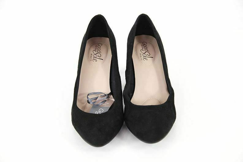 Good For The Sole black suede womens shoes UK4 RRP25 new