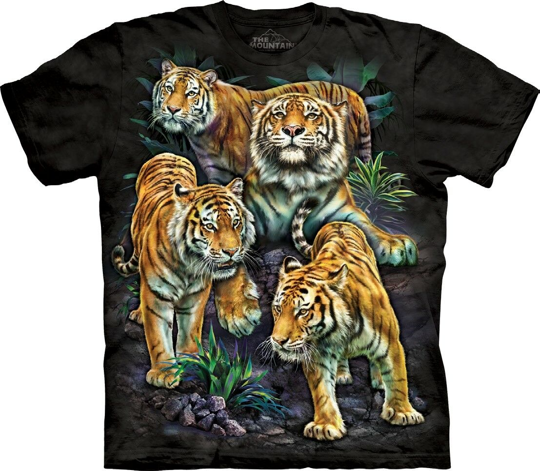 The Mountain Unisex Adult Bengal Tiger Collage Animal TShirt