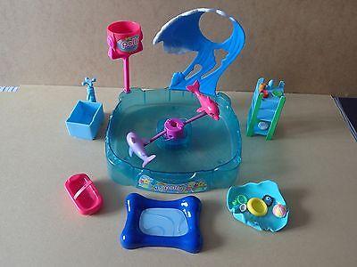 2008 Polly Pocket Shimmer & Splash Avventura Delfino Play Set Incompleto-mostra Il Titolo Originale Prestazioni Affidabili