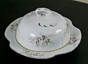 Vintage-West-End-Pottery-Co-Transferware-Butter-Dish-with-Insert