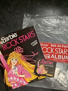 Rare Panini Barbie Rock Stars Sticker Album 1986 With 6 Stickers & Empty Packet