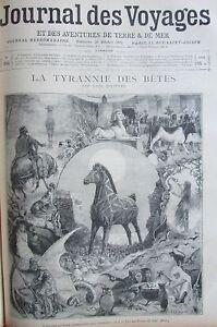 Zeitung-der-Voyages-954-von-1895-Tyrannei-Bestien-Guerre-1870-Duel-Navaja