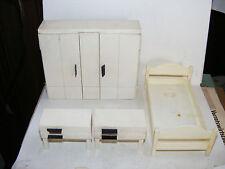 Alte Möbel-Schlafzimmer-60/70er Jahre-Design-Puppenhaus-Puppenstube-1:12-Bastler