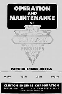 Clinton-Engines-Panther-Models-Operation-Manual
