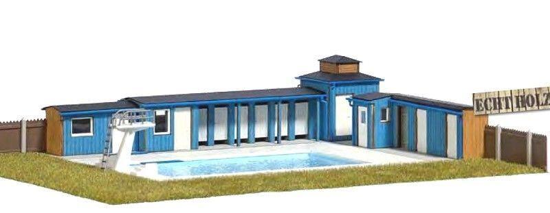 Busch HO 1433 piscina all'aperto  neu in OVP