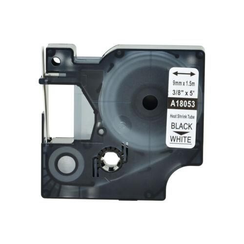 "10PK Heat Shrink Tube Industrial Label 18053 For Dymo RhinoPro S0718280 3//8/"""