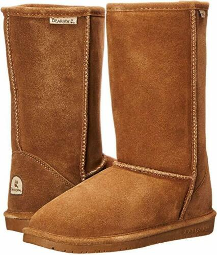 Kids Bearpaw Emma Tall Youth Boot 618Y Hickory II Suede 100/% Authentic