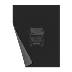 Mercedes Benz Original Actros Fleece Blanket 200x150cm Black//Anthracite Nip