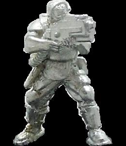 Trooper-Luz Láser cubrirse 28mm metal sin pintar Wargames