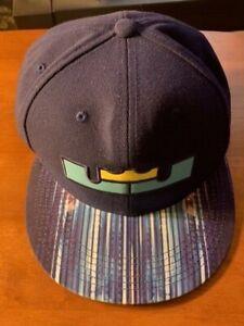 NIKE TRUE LEBRON JAMES SNAPBACK CAP/HAT BLUE KING LOGO ...
