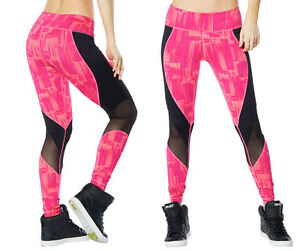 44b0831274c7 Zumba Hyper Melt Long Leggings Pink or Green XXL NEW RARE! Limited ...