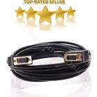 25FT Black HD15 PIN SVGA SUPER VGA Monitor Cable M Male Laptop PC Projector Cord