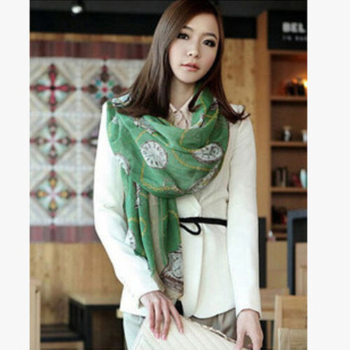 Women Pretty Soft Chiffon Scarf Long Neck Wrap Shawl Printed Voile Fashion Gift