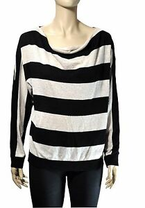 9103baad2d00e Details about NWT INC International Concepts Cowl-Neck Metallic Knit  Striped Sweater PL