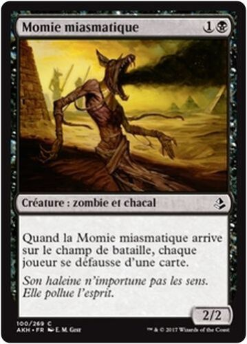 x4 Miasmic Mummy//Momie miasmatique MTG Magic AKH - French//VF