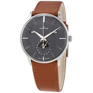 Junghans Meister Kalendar Automatic Moon Phase Grey Dial Men's Watch 027/4906.01