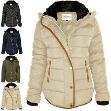 item 2 Womens Ladies Quilted Winter Coat Puffer Fur Collar Hooded Jacket  Parka Size -Womens Ladies Quilted Winter Coat Puffer Fur Collar Hooded  Jacket Parka ... a6c6faf09