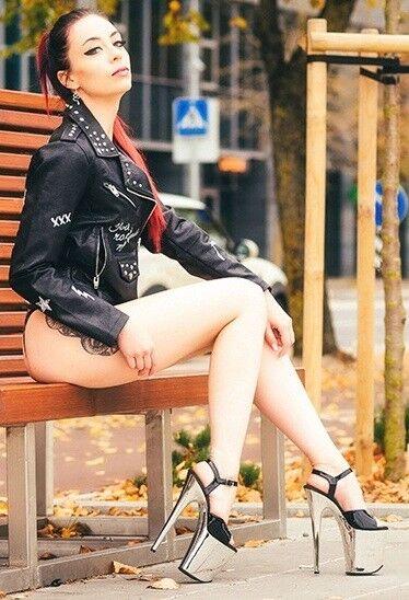 8  Noir Argent Chromé Plate-forme Stripper Dancer talons chaussures Pleaser FLAMINGO - 809