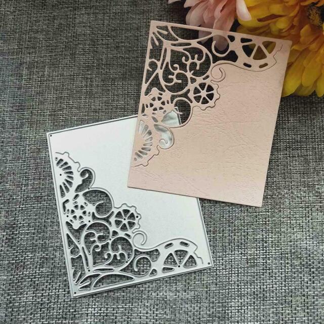 Corner Frame Metal Cutting Dies Stencil Scrapbooking Album Paper Card DIY HOT