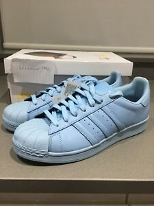 5893db014a49f Image is loading Adidas-Superstar-Supercolour-Pharrell-Williams-Light-Blue -UK9-