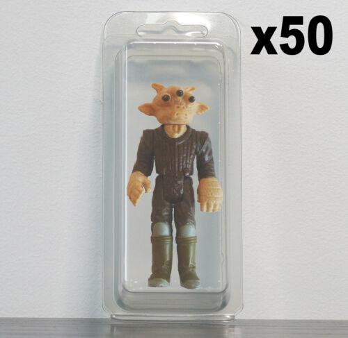 50 X Premium Loose blister cas pour figurines 3 3//4 pouces Star Wars G.I JOE etc