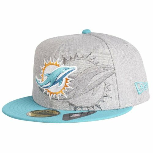New Era 59Fifty Cap SCREENING NFL Miami Dolphins grau
