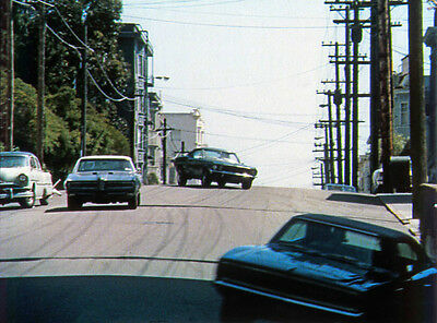 STEVE McQUEEN 1968 Bullitt 8x10 DODGE CHARGER & FORD MUSTANG color still #25
